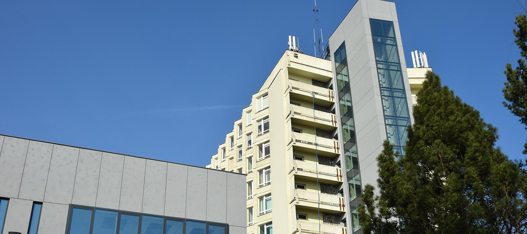 widok na Szpital MSWiA w Poznaniu