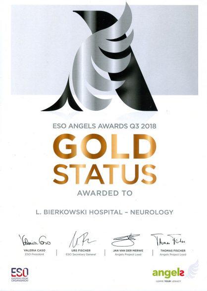 Gold Status 2018
