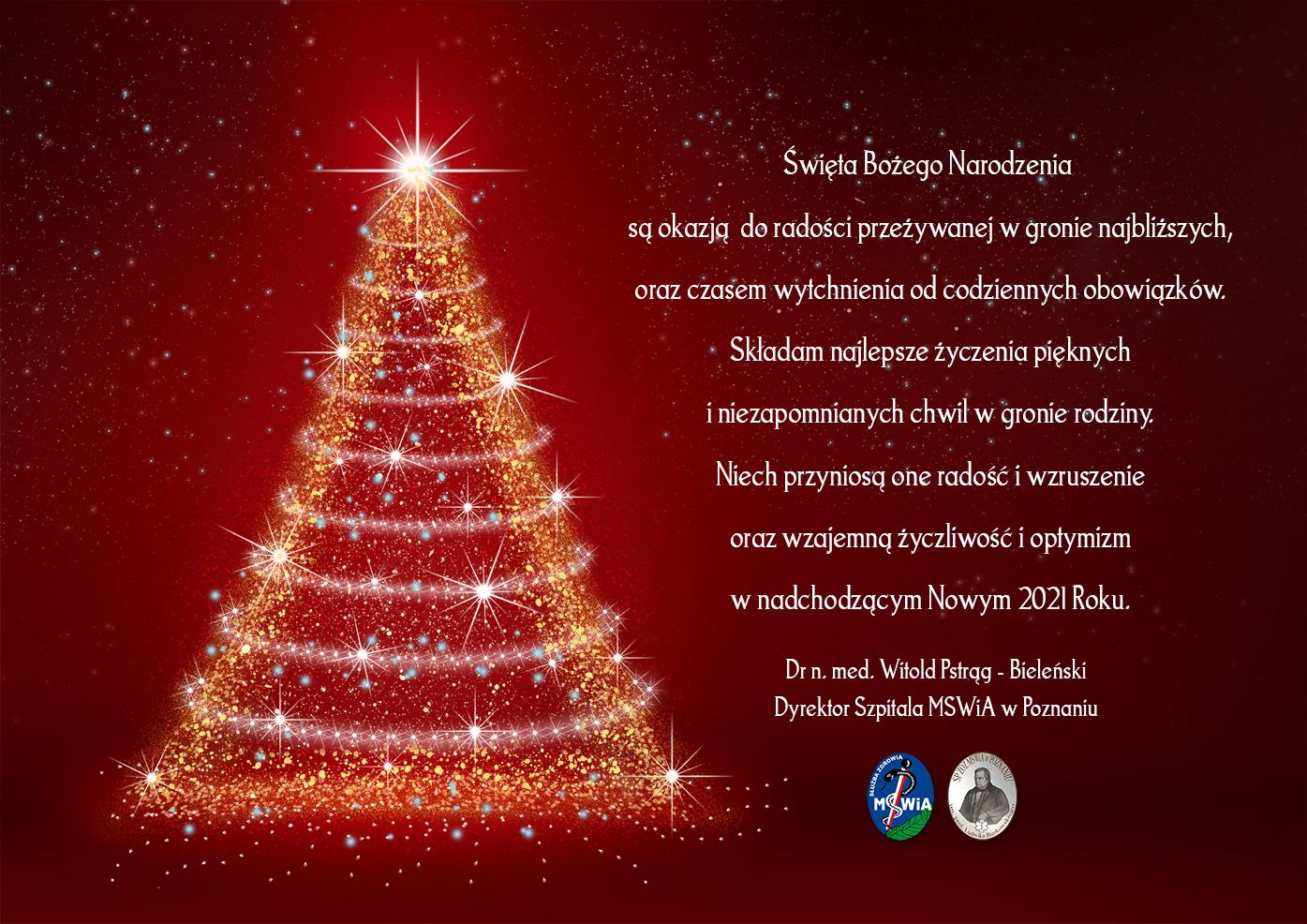 SP ZOZ Życzenia z okazji świąt Bożego Narodzenia 2020